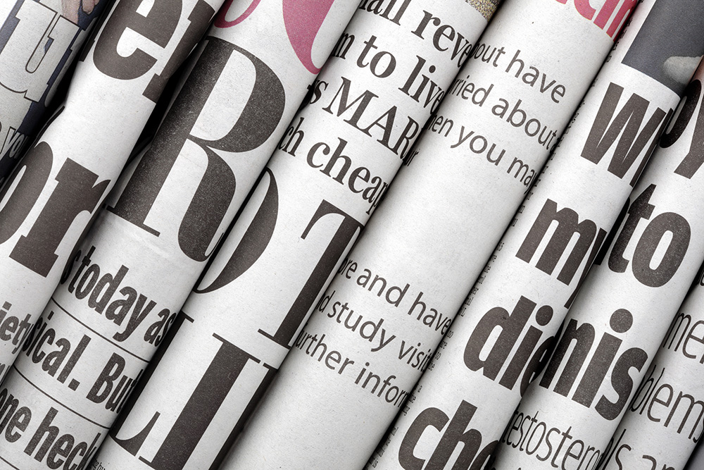 Articles - Newspaper headlines